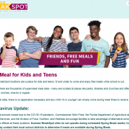 FREE Meals for Children under 18 – Children's Meals Website for COVID-19 School Closures